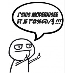 "Autocollant collection ""j'emm..."" modernisation"