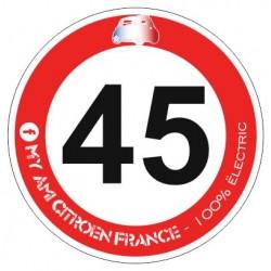 Autocollant panneau 45